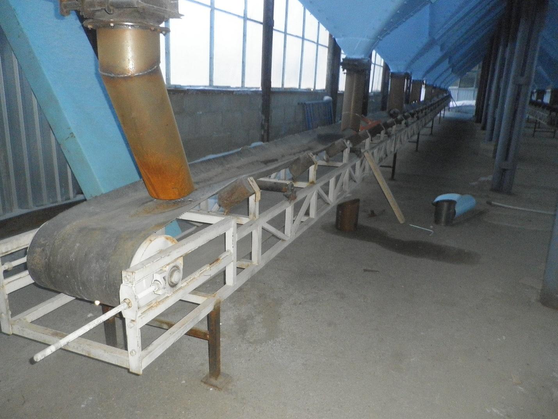 фото горизонтального стрічкового конвеєра на елеваторі
